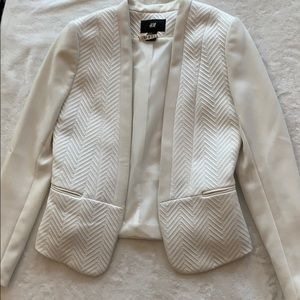 White open breasted blazer from H&M